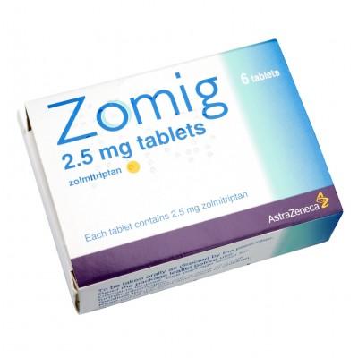 Zomig 2.5mg Tablets - Migraine